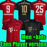 Bayern fãs Versão do jogador 21 22 22 Davies Bayern Manga Longa Futebol Jerseys Goretzka Lewandowski Gnabry Muller Musiala Camisa de Futebol Coman Munique