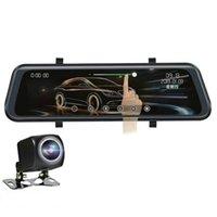 Cámaras de la vista trasera Cámaras Sensores de estacionamiento Novelas-10 pulgadas Stream Media DVR Dual Lente HD 1080P 32G Espejo Video Recorder Dash Cam