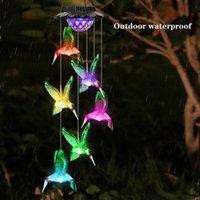 Solarlampen Hummingbird Outdoor Decor Yard Decorations Memorial Wind Chime Gardening Geschenke für Mama Oma Geburtstag