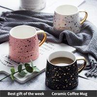 Mugs Ceramic Coffee Mug Milk Cup Drinkware Starry Sky Pattern Teacup Simple Creative Pink Black White Funny Cups