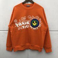 Sweats à capuche Homme Sweatshirts Haute Qualité Tournette Broderie Terre Motif Plus Coule Crew Col Crewneck 3D Mousse Impression Hommes Femmes