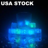 밝은 위로 얼음 조각, 깜박이는 욕조에 대 한 LED ices 큐브 욕조 화병 결혼식 연못 클럽 바 샴페인 타워 파티 휴가 장식 Usalight USA Tock