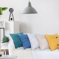 Einfache Tasten Kissenbezug Kissenbezug für Taille Haushalt Chenille Skandinavische Stil Sofa Kissenbezüge Kissenbezug HWB9118