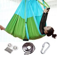 Resistance Bands 2.5*1.5m Anti-Gravity Yoga Hammock Flying Swing Aerial Traction Device Set Home Gym Hanging Belt Trapeze