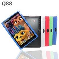 مزدوج 11 حزمة مبيعات فلاش Q88 أزياء أطفال اللوحي شاشة الكمبيوتر 7 بوصة الروبوت 4.4 allwinner a33 رباعية النواة