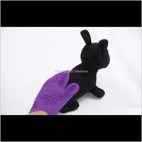 Pflegehund liefert Hausgarten Drop Lieferung 2021 Pet Mas Handschuhe Bad Blase Haarentfernungsbürste Sile wasserdicht und saubere zwei Seiten 8VJ