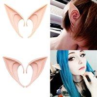 1Pair Cosplay Látex Fairy Angel Elf Ears Disfraces de Masquerade Disfraces de Halloween Party Decoración Suministros Suministros de fotos