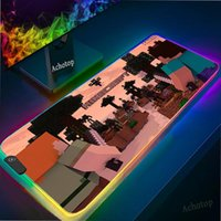 Mouse Pads & Wrist Rests 900x400mm Anime RGB Large Pad Dungeon Gaming Gamer Computer Mousepad Led Backlight Carpet XXL Keyboard Desk Mats