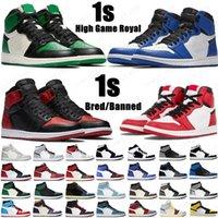 2020 1 sapatos de basquete de alta OG 1S Royal Black Toe Pine Verde Preto Corte Roxo Branco Unc Patente Homens Mulheres Estilist Sneakers Trainers