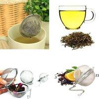 Teaware Paslanmaz Çelik Örgü Çay Topu Demlik Süzgeç Küre Kilitleme Baharat Çay Filtresi Filtrasyon Bitkisel Topu Kupası İçecek Araçları HWF10388