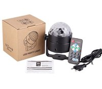 3W Mini RGB Crystal Magic Ball Sound Activated Disco Ball Stage Lamp Lumiere Christmas Laser Projector Dj Club Party Light