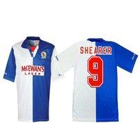 Retro 94-96 Blackburn Rovers Soccer Jerseys Shearer Sutton Vintage Fútbol Camisetas Futbol Camisas Camisetas Kit Classic Kit