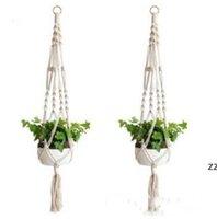 植物ハンガーマクレームロープポットホルダーロープの壁掛けプランター吊り下げバスケット植物ホルダー屋内植木鉢バスケット吊り下げHWD8353