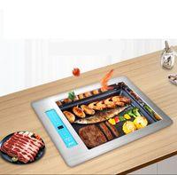 Elektrischer Barbecue Grill kommerziell koreanienf-hilfe Gegrillter Fischherd Embedded Restaurant rauchloser elektrischer keramik stove2000w 039-2