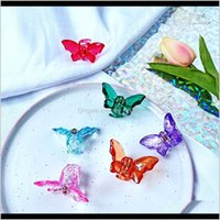 & Barrettes Jewelry Drop Delivery 2021 Crystal Transparent Butterfly Clips Hairband Pins Barrette Hairpins Headdress Beauty Christmas Hair Ae