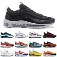 97S الأحذية الرياضية الأسود رصاصة شون whandhpoon 97 المرأة الجري الأحذية الركض المشي المشي وسادة أحذية رياضية الرجال في chaussures الصين مصنع الجملة السعر