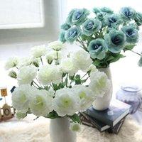 Голова искусственный одиночный оранжевый платикодон цветы для украшения дома свадьба рука держа букет цветок поддельных оптовых декоративных венков