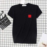 남성 T 셔츠 수 놓은 사랑 쌍 스타일 짧은 소매 작은 심장 인쇄 된 여자 여름 캐주얼 커플 티