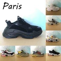 2021 Высочайшее качество Париж Повседневная обувь Тройной черный Бежевый Зеленый Желтый Белый тренажерный зал Красные Синие Мужские Тренеры Женщины Кроссовки США 6-12