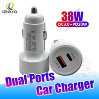 Autoladegerät 38W PD QC Fast Chargers Dual USB-Anschlüsse High Speed Charge Adapter für iPhone 13 PRO max 12 11 8 PLUS SAMSUNG S21 IZESO