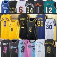 Los Russell 0 Westbrook LeBron 6 LBJ Angeles Basketball Jerseys Dwayne Dwyane Curry 3 Wade 30 Trae Stephen Young