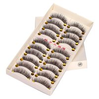 False Eyelashes 3D Soft Mink Hair Lashes Natural Fluffy Long Wispy Makeup Fake Eye Extension Tools 10 Pairs Eyelashes.
