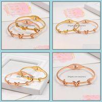 Cuff Bracelets Jewelrybracelet Bangles Brand Jewelry Titanium Steel High Quality Bracelet Femm Women Gift Brazalete Mujer Drop Delivery 2021