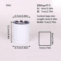 10oz Design Double Wall Stainless Steel Blank Sublimation Coffee Mug Cups Heat Transfer Wine Tumbler Cup Q