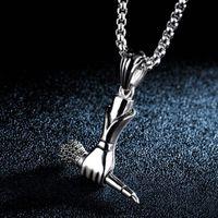 Ожерелье звезды же стиль личности певец микрофон ожерелья мужская модная альтернативная тенденция доминирующая подвеска модные подарки