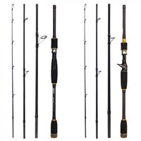 2.1m 4 Section Carbon M Power Ultra Light Spinning Casting Fishing Pole Fiber Lure Rod Boat Rods