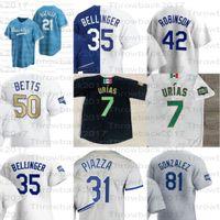 2021 로스 앤젤레스 Mookie Betts Jersey Cody Bellinger Clayton Kershaw Corey Seager Julio Urias Justin Turner 데이비드 가격 저지