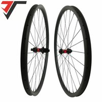 Roues à vélos 700C Frein à disque Road 35mm Clincher Cyclocross Tobeless Cyclocross Carbon 240S Centre Lock Hubs Thru Roue d'axe