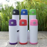US Warehouse 12oz Sublimation straight tumblers blank Skinny thermos mug Stainless Steel white Water Bottle portable Double wall Vacuum Insulated Cups
