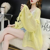 Loose Knitted Summer Cardigan Sweater Women Long Sleeve Thin...