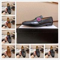 [Orijinal Kutu] Lüks Moda Erkek Gommino Elbise Rahat Parti Loafer'lar Ayakkabı Cowskin Tek Ayakkabı Düğün Pompaları Üzerinde Kayma Siyah Boyutu38-45
