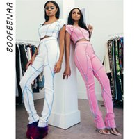 Spring 2021 Women Clothes Two Piece Set Sexy Knit Bodycon Outfits Sports Tracksuit 2 Pants Matching Sets C87AE38 Women's Tracksuits