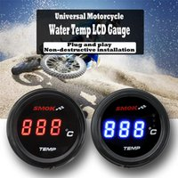 Universal Motorcycle LCD Digital Instruments Thermometer Water Temp Temperature - Red Blue