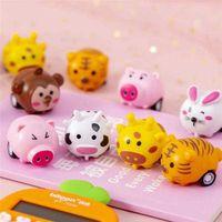 Cartoon-Kinder kreative Anti-Fall-Spielzeug Mini-Tier-Form-Design-Inertial-Sportwagen-Jungen und Mädchen-Party-Geschenke Großhandel
