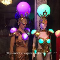 Fashion Led Luminous Sexy Evening Dress Catwalk Clothes Ballroom Costume Stage Performance Dance DJ Singer Cosplay Clothing Party Decoration