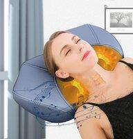 سادة تدليك مدلك الرقبة وسادة عنق الرحم علاج العلاج الطبيعي الرعاية الصحية الاسترخاء آلة مع بلوتوث المتكلم المدقق الكهربائية