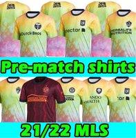 MLS PRE Match Shirts 2021 DC Inter Miami Unites Soccer Jerseys Nashville Los Angeles La Galaxy Atlanta Orlando Seattle Sounders Lafc New City York Camicie da calcio