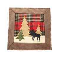 Christmas throw travesseiro capa búfalo xmas árvore árvore rena coxim casos home sofá decorações 36cm xbjk2109