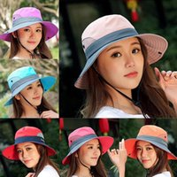 Stingy Brim Hats Summer Outdoor Big Visor Female Male Sunscreen Anti-UV Sun Hat Tide Dry Cap Wide UV UPF Protection Fishing Hiking