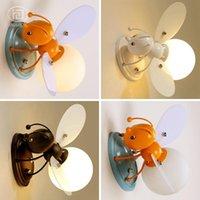 벽 램프 현대 만화 어린이 방 램프 장식 침실 LED 동물 야간 등등 소년과 소녀 실내 꿀벌 빛