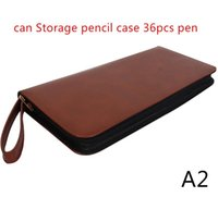 Colors Color School Pencil Case 36 Holes Penal Leather Pen Bag For Girls Boys Stationery Pouch Bags