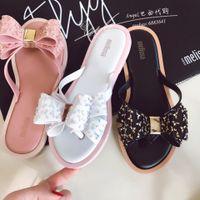 Melissa Jelly Slipper Harmonic Bow Women Sandals 2021 Fashion Women Jelly Shoes Flip Flop Melissa Adulto Female Lady Shoes SM002