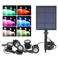 Solar Powered Lamps LED Landscape Spotlight Outdoor Security Night Light Solar Fish Tank Light, Adjustable Lighting Angle In Stock