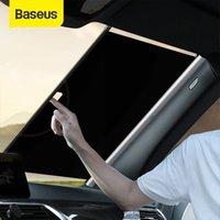 Baseus قابل للسحب الزجاج الأمامي الظل سيارة الجبهة الشمس كتلة السيارات الخلفية نافذة طوي الستار ظلة