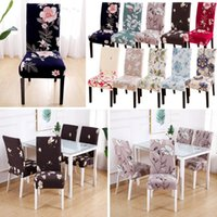 Chair Covers 1 4 6PCS Stretch Anti-dirty Cover Removable Washable Printing Pattern Seat Slipcover For Wedding Restaurant Banquet