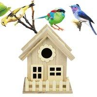Деревянная птица Дом для разведения клетки клетка кормление гнездо в саду задворк балкон кулон симуляция